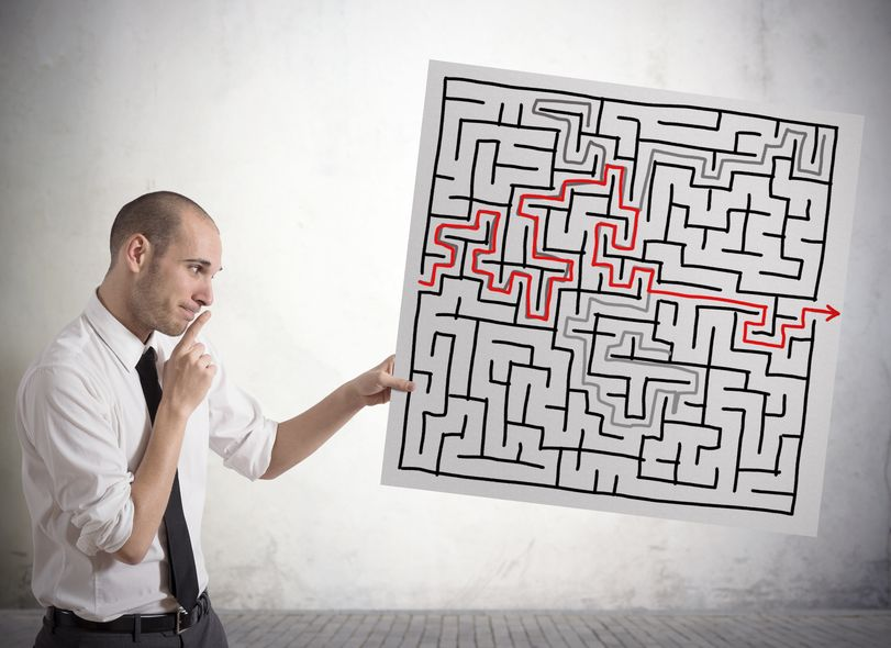 21694733 - businessman finding solution for the maze